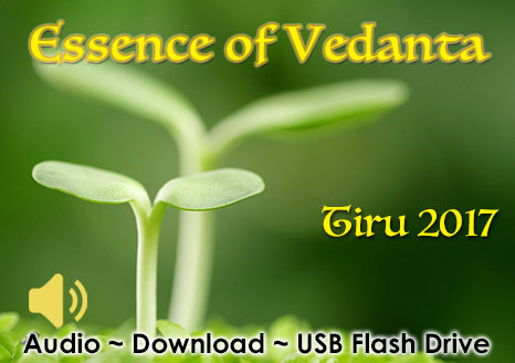 Essence of Vedanta ~ Tiru 2017 ~ AUDIO